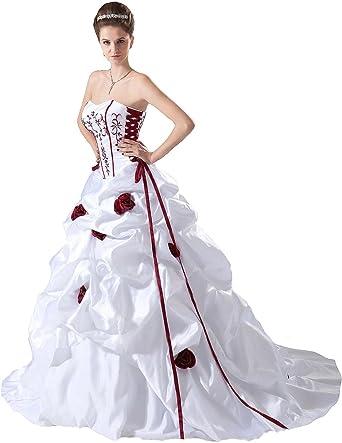 Lemandy Robe de mariée Princess avec Bustier: