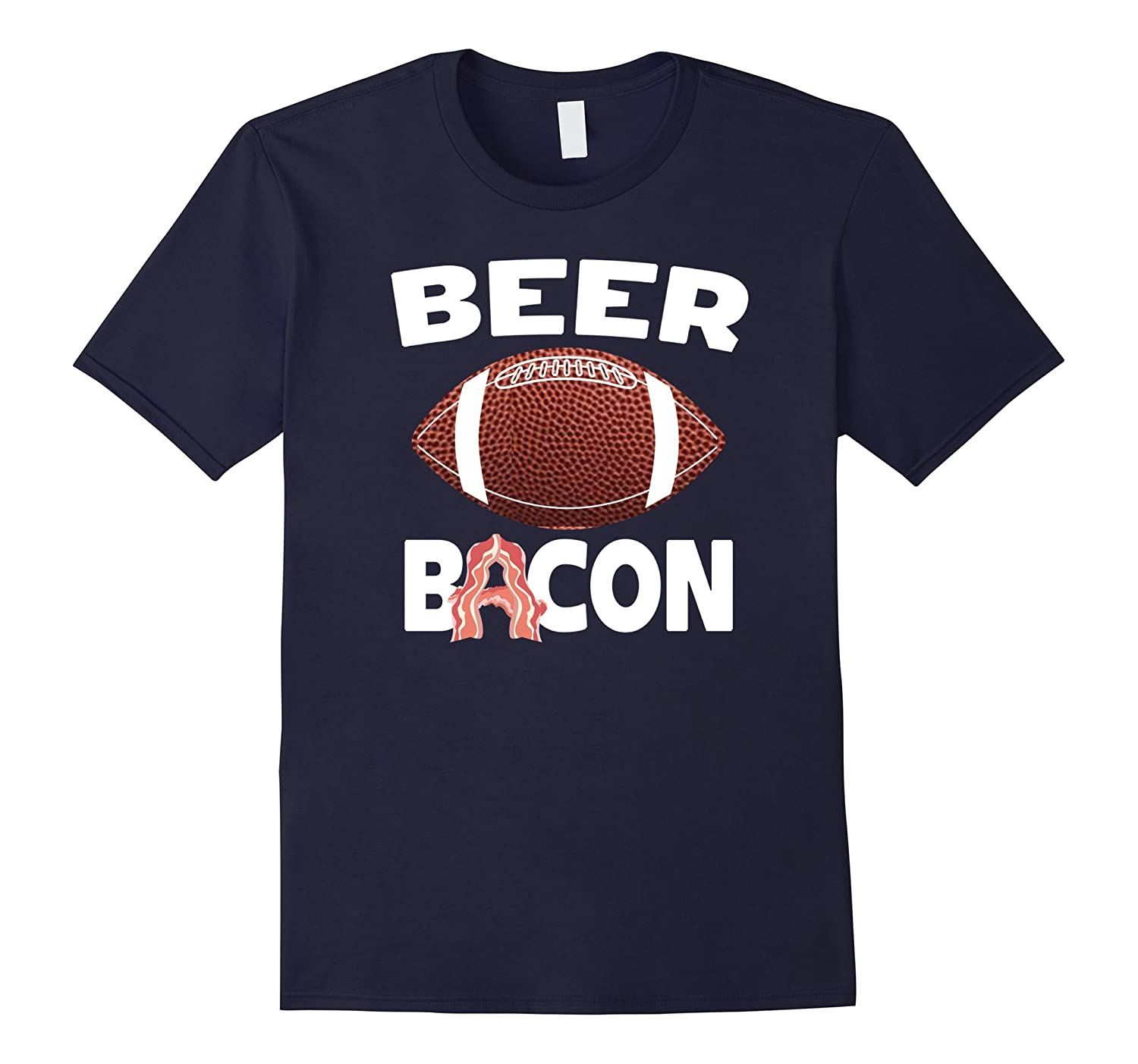 Beer Football and Bacon Funny Fantasy Sports Party T-Shirt-T-Shirt