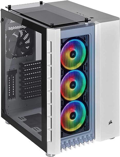 Corsair Crystal Series 680X RGB - Caja de PC, Vidrio Templado ATX Smart Gaming Case, con alto flujo de aire, iluminación RGB LED, Blanco: Amazon.es: Informática
