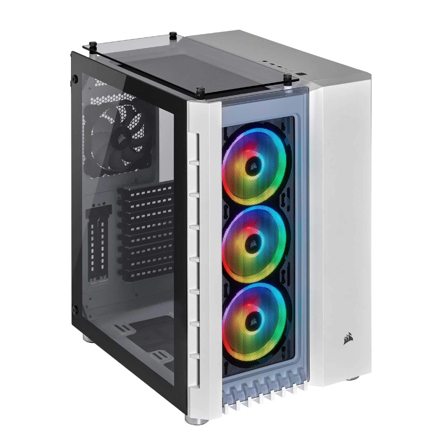 CORSAIR Crystal Series 680X RGB High Airflow Tempered Glass ATX Smart Case, White