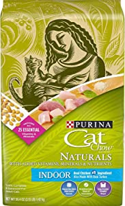 Purina Cat Chow Naturals Dry Cat Food, Indoor With Real Chicken & Turkey, 3.15 Lb Bag