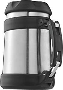 Brentwood Food Jar Vacuum Insulated, 16 oz, Stainless Steel/Black