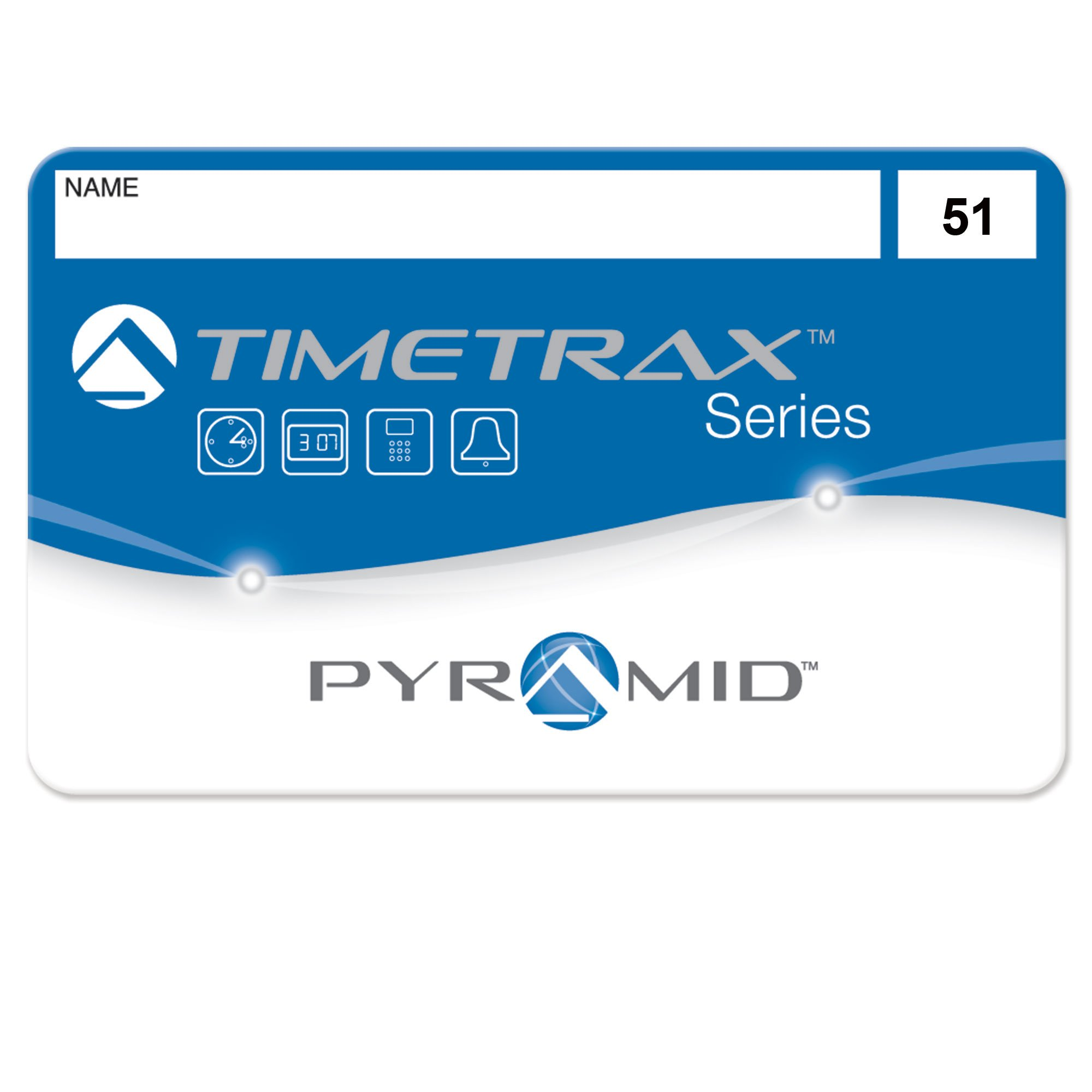 Pyramid TimeTrax 41304 Swipe Cards (51-100) for TTEZ, TTEZEK, PSDLAUBKK, TTPRO, TTMOBILE, FASTTIME 8000 & 9000 Time Clock Systems, 50/Pk by Pyramid Time Systems