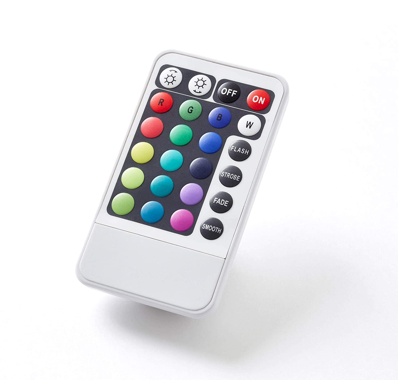 cromo 1/de forma de focos 1/x 2100/l/úmenes metal//pl/ástico 1/x 37/W LED integrado RGB Cambio de color LED L/ámpara de pie C 3000/K mando a distancia