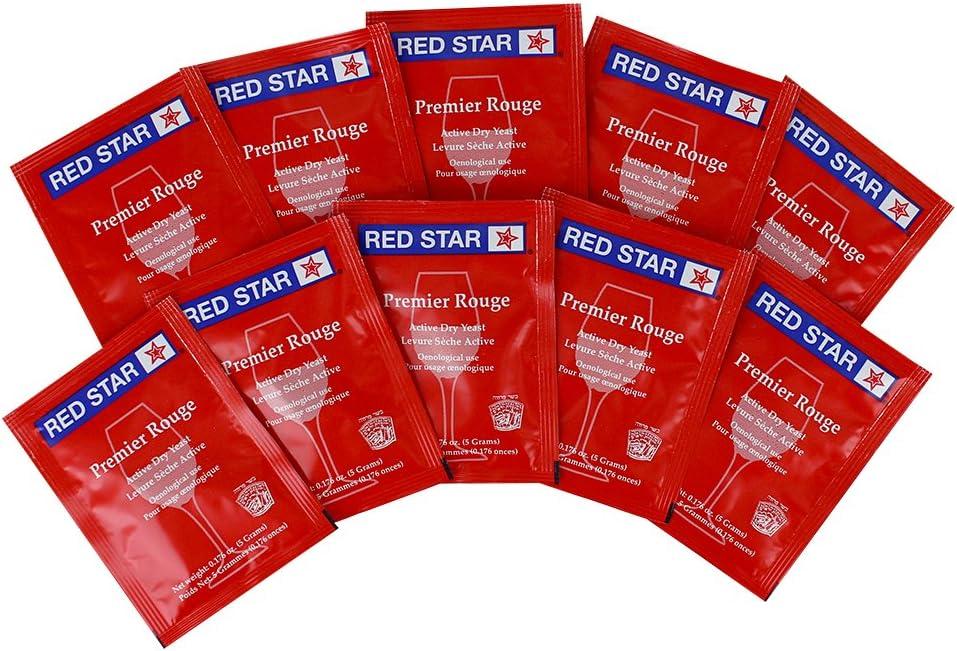 Premier Rouge Dried Wine Yeast (Pack of 10)