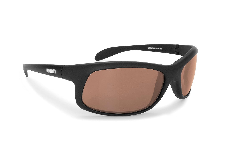 BERTONI Polarisierten Photochrome Sonnenbrille für Skifahren - Laufen - Driving - Fish - P545FT  Selbsttönend