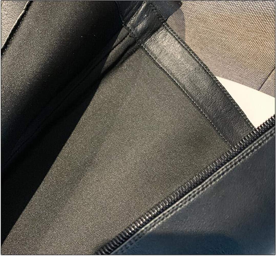 Bottes pour Femmes, Chevalier De Haute Qualité Bottes À Lacets Fond Plat Chaud Et Confortable, Noir Singlelining