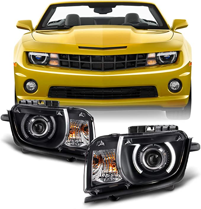[EQHS_1162]  Amazon.com: For Black 2010 2011 2012 2013 Chevy Camaro Driver & Passenger  Both Side Projector Headlights Headlamps: Automotive | 2010 Chevy Camaro Headlight Wiring Diagram |  | Amazon.com