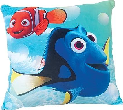 Fun House 712599 Disney Dory cojín para niños Cuadrado Poly algodón 35 x 14 x 35 cm, polialgodón, Azul, 35 x 14 x 35 cm