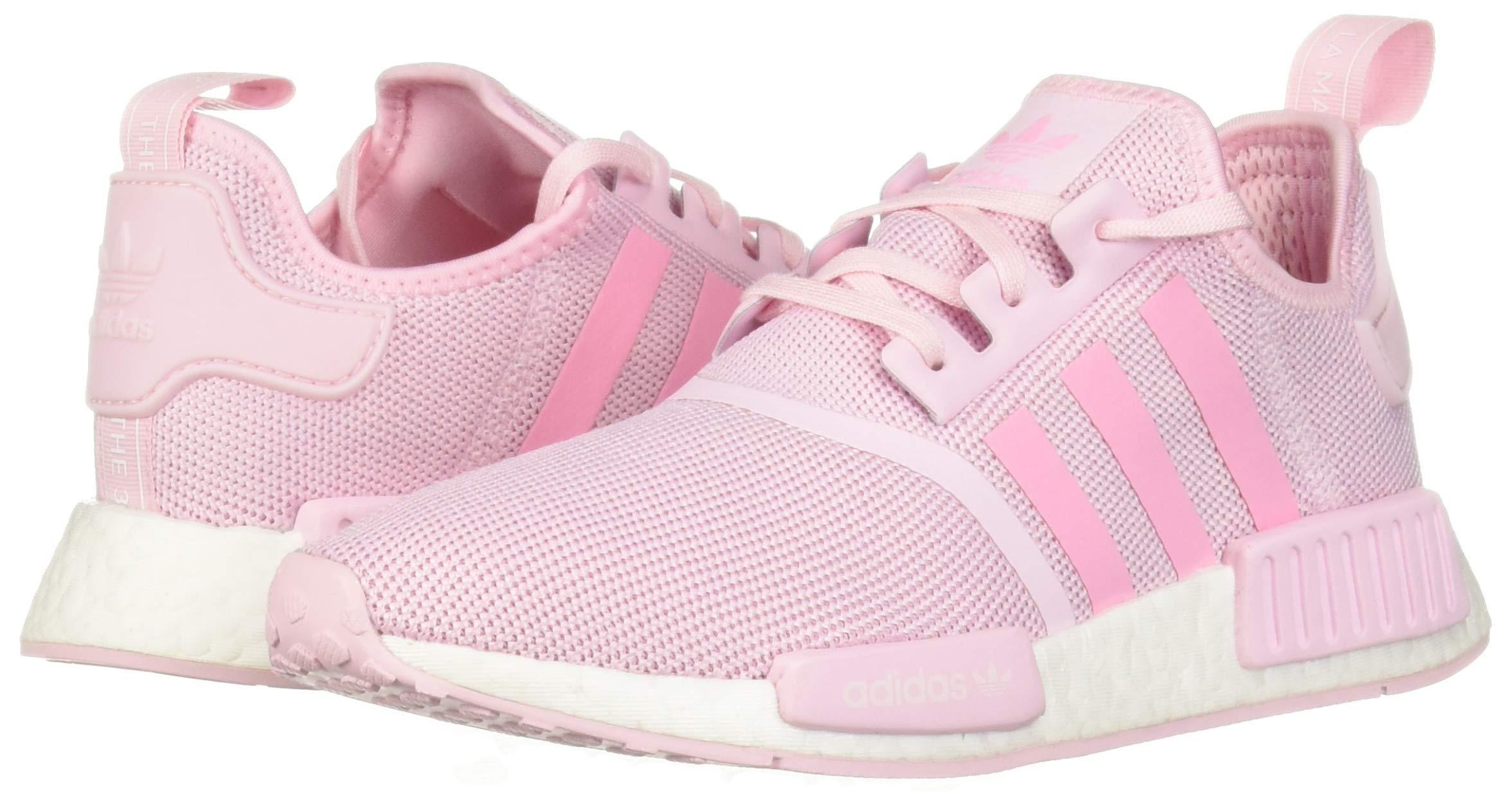 adidas Originals Unisex NMD_R1 Running Shoe Clear Shock Pink/White, 3.5 M US Big Kid by adidas Originals (Image #5)