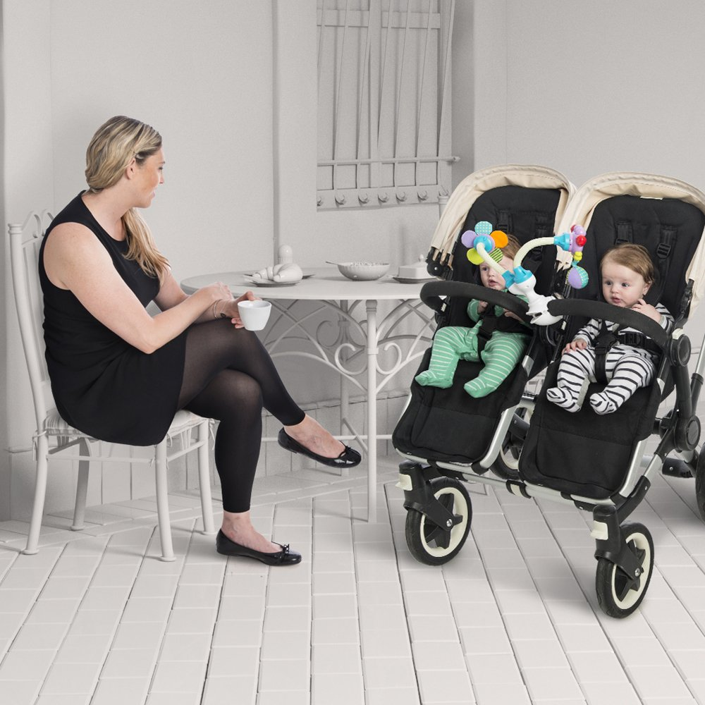 All in One /• Car Seat /• Stroller /• High Chair /• Changing Table 11 Fun /& Flexible Combinations Flexible /& Interchangeable Baby Toy Play System Clamp Anywhere Multi Flex Set FunFlex