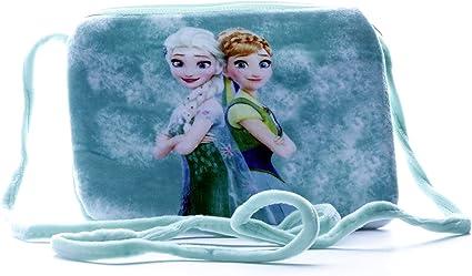 HC Toys LLP Green Disney Frozen Princess Sister Elsa Anna Soft Canvas Sling Bag for Baby Girls Kids