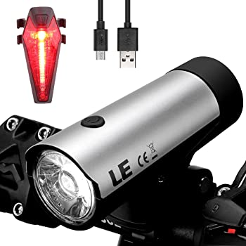 Lighting Ever USB Rechargeable LED Bike Light Set