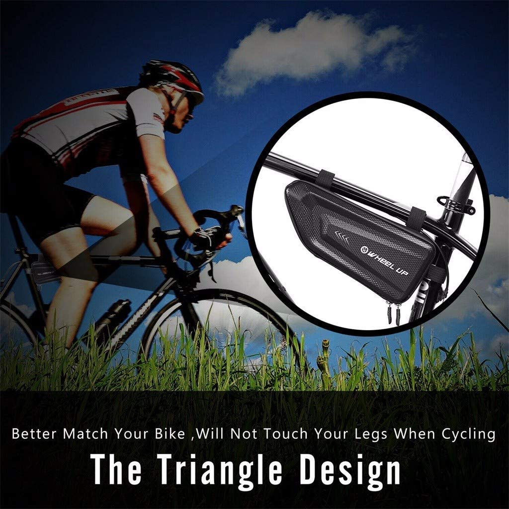 Bicycle Bag Front Frame Bike Tube Pouch for Road MTB Bike Tools GorNorriss Sport Bicycle Bike Storage Bag Triangle Saddle Frame Pouch for Cycling