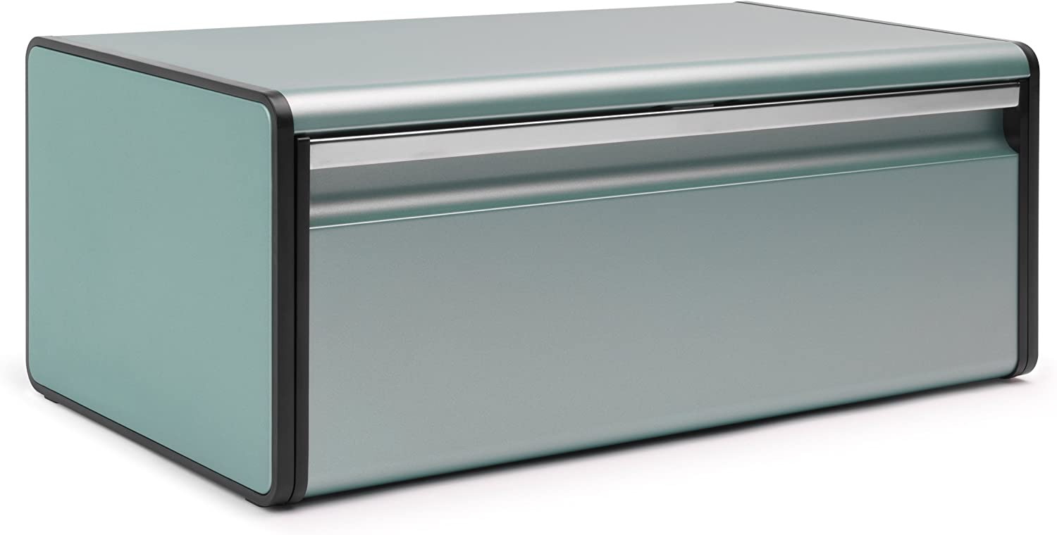 Brabantia Fall Front Metallic Mint Green Bread Bin