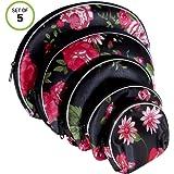 4bb9e1a2fd65 Amazon.com   Zhoma 3 Piece Waterproof Cosmetic Bag Set - Makeup Bags ...