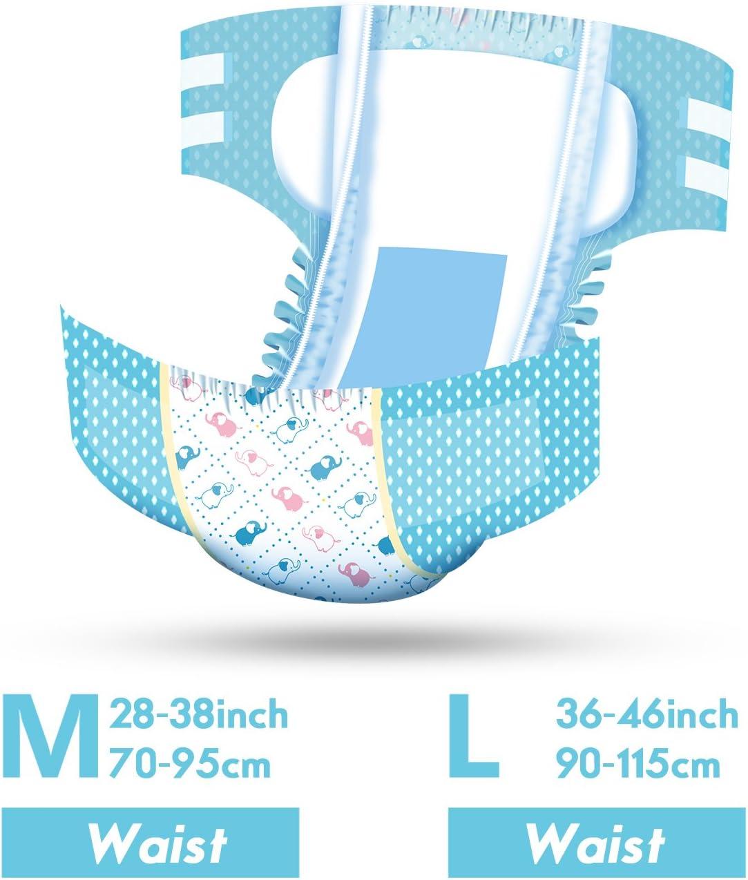 LittleForBig impreso para adultos calzoncillos pa/ñales 10 piezas-Poco Elefantito L