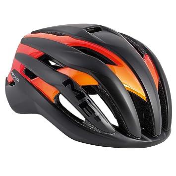 MET Trenta Triathlon – Casco de fácil Comodidad ventilado para Bicicleta de Carreras inmould, antirreflectantes