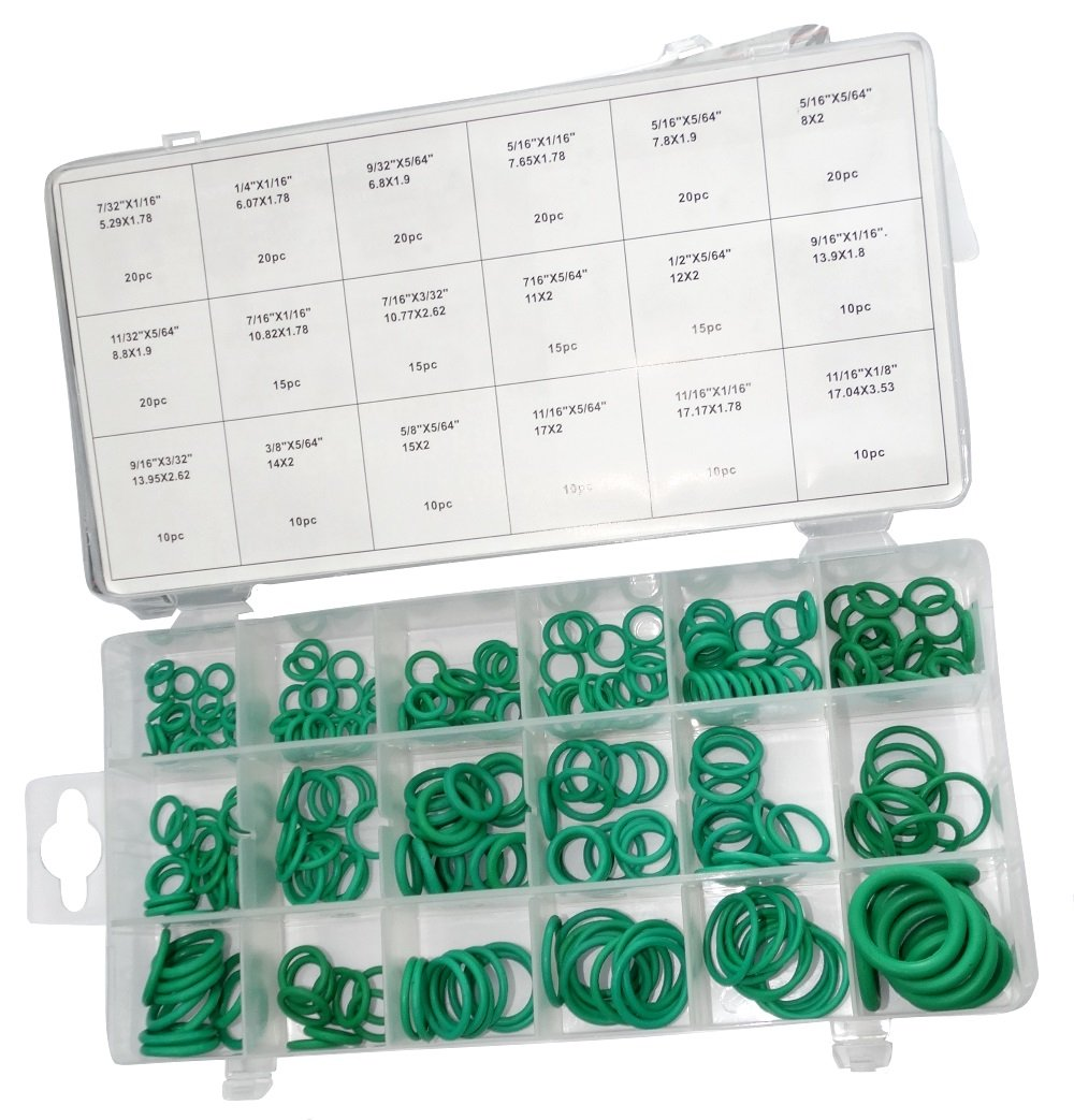 AERZETIX: Surtido de 270 anillos toricos anillos de junta caucho, color verde C18563 C18563-AZ50
