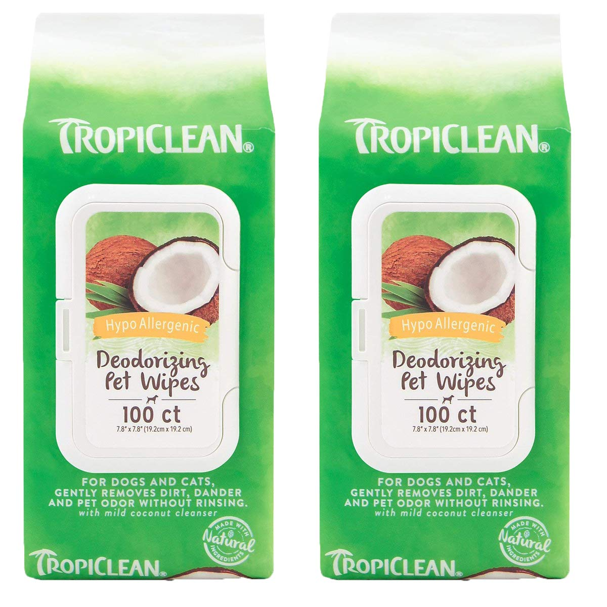 Tropiclean Inc. Hypo Allergenic Wipes for Pets, 200ct