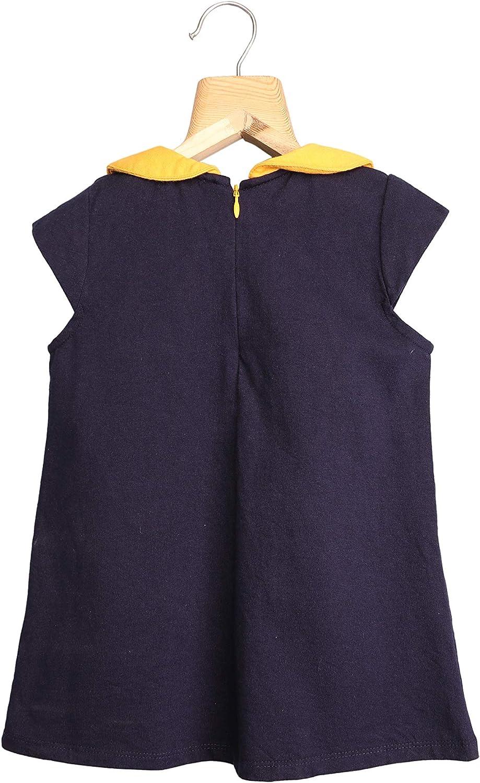 Jooni Girls`Peter Pan Collar Cap Sleeve Shift Dress