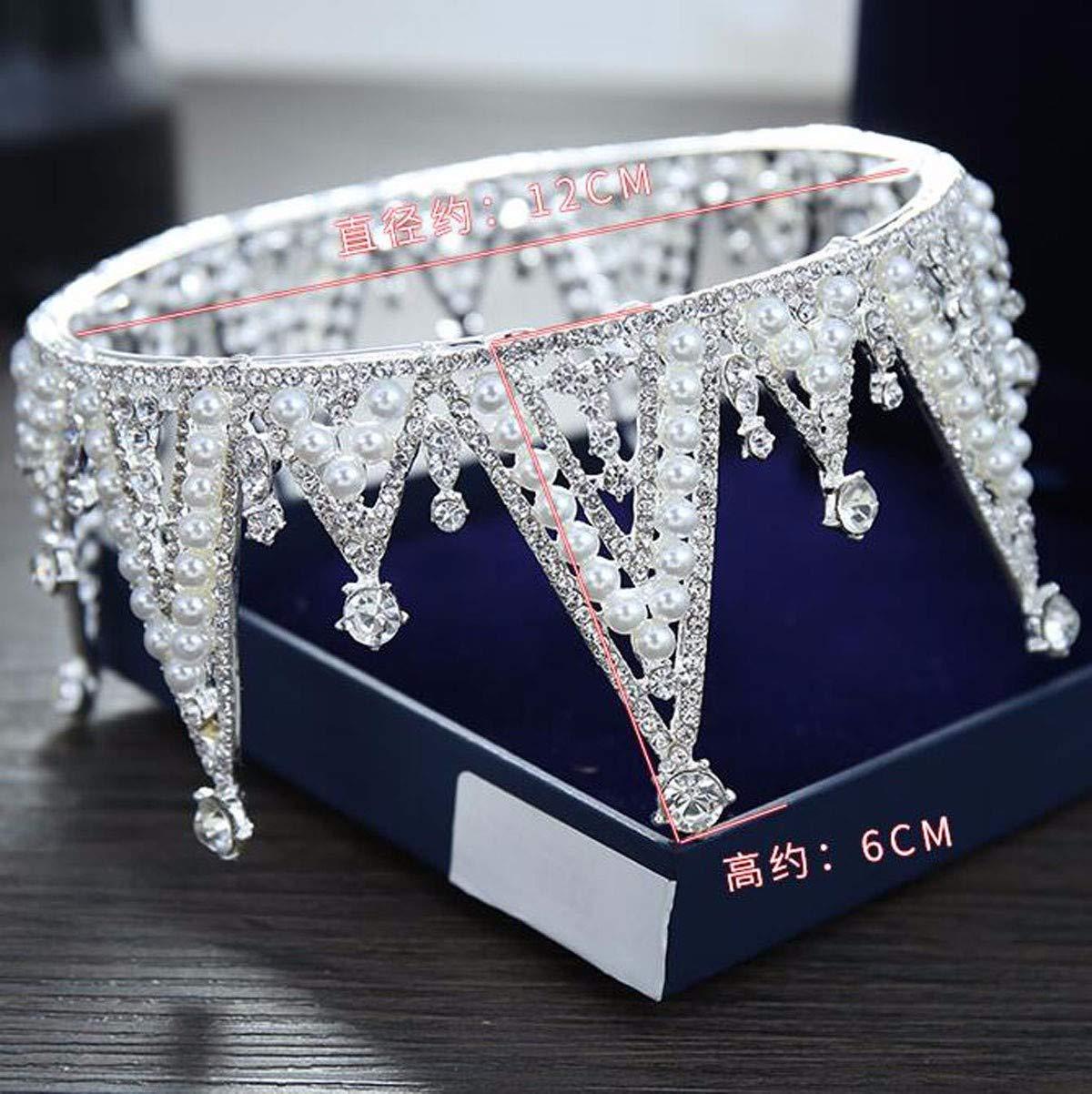 Wedding Crown, Beautiful headdress/Bridal Baroque Crystal Queen Crown Wedding Headwear Photo Studio Wedding Dress Pearl Jewelry by Junson (Image #2)