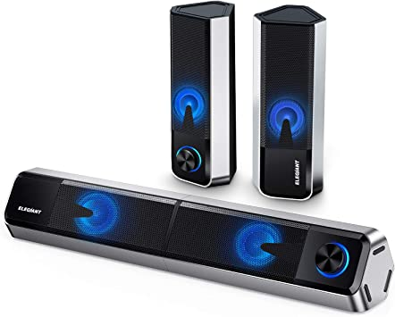 Altavoces PC ELEGIANT, 10W Barra de Sonido Bluetooth 5.0 Sobremesa ...
