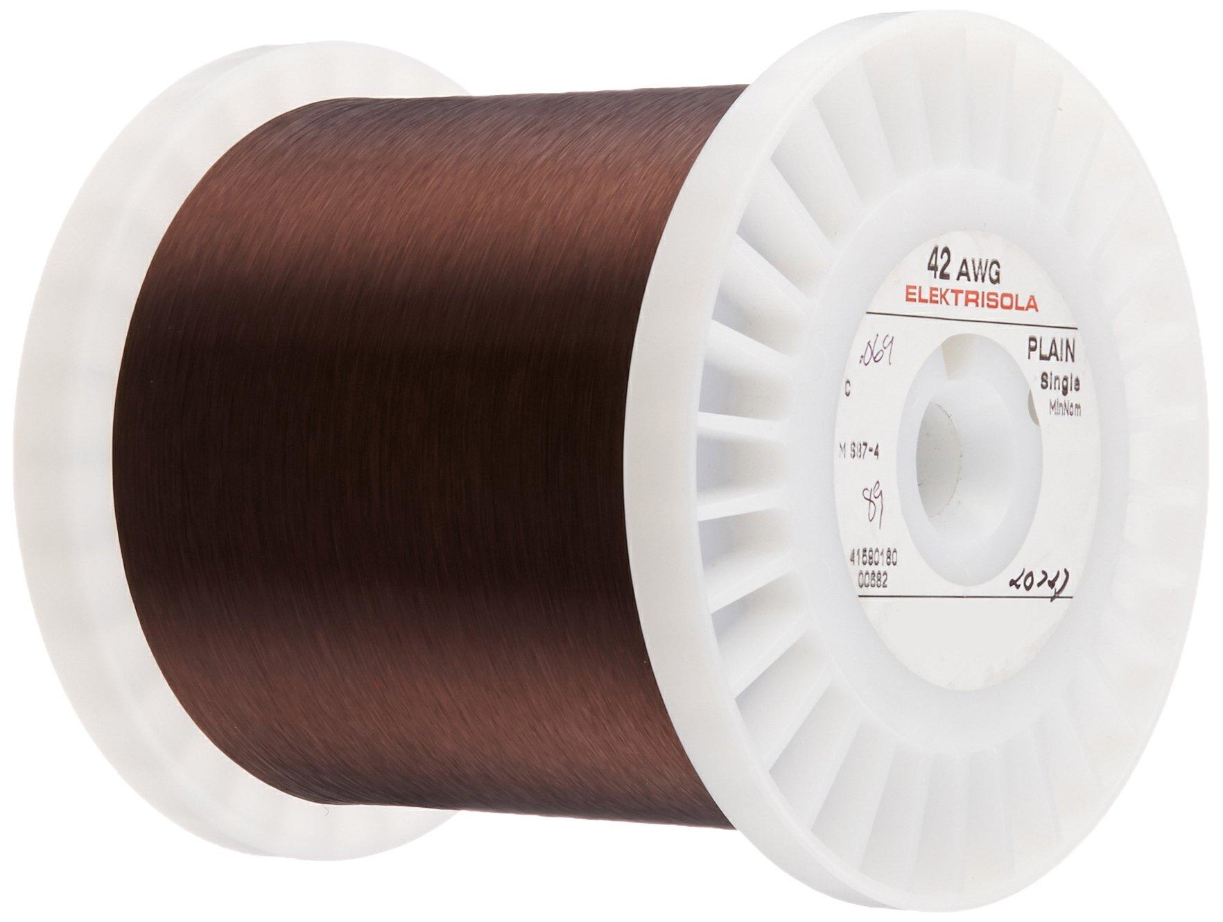 Magnet Wire, Plain Enamel Copper Magnet Wire, 42 AWG