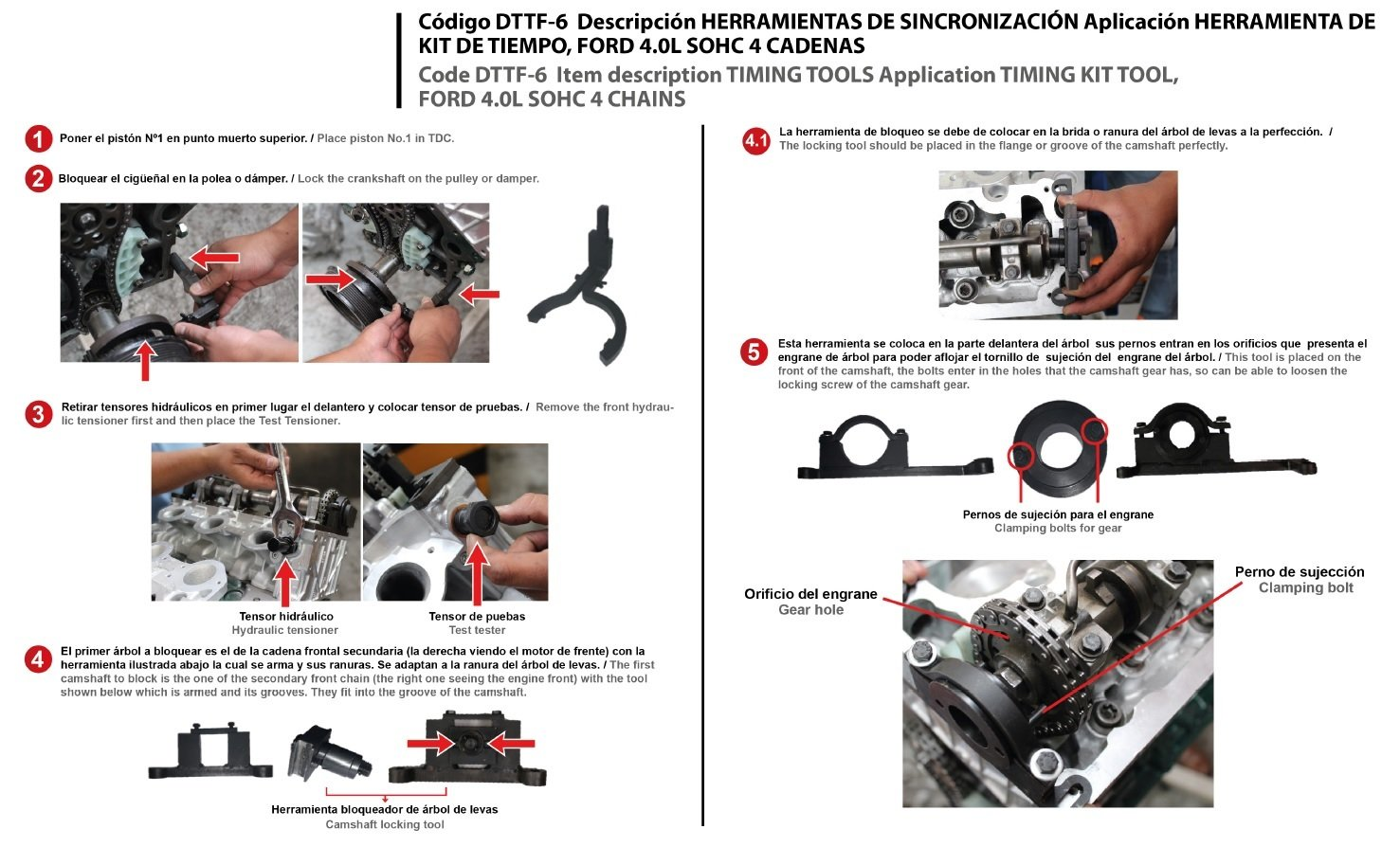 Ford Installation Timing Kit Repair Tools Explorer Mercury Mountaineer Electrical Troubleshooting Manual Mustang Ranger L3 Mazda B4000 Land Rover V6 Sohc 40l 4015cc Chain