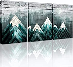 farmhouse Wall Art painting for Living Room bathroom Canvas art Wall decor for Bedroom kitchen office Wall Decoration Black and white Abstract mountain forest pictures Artwork for home walls 3 piece