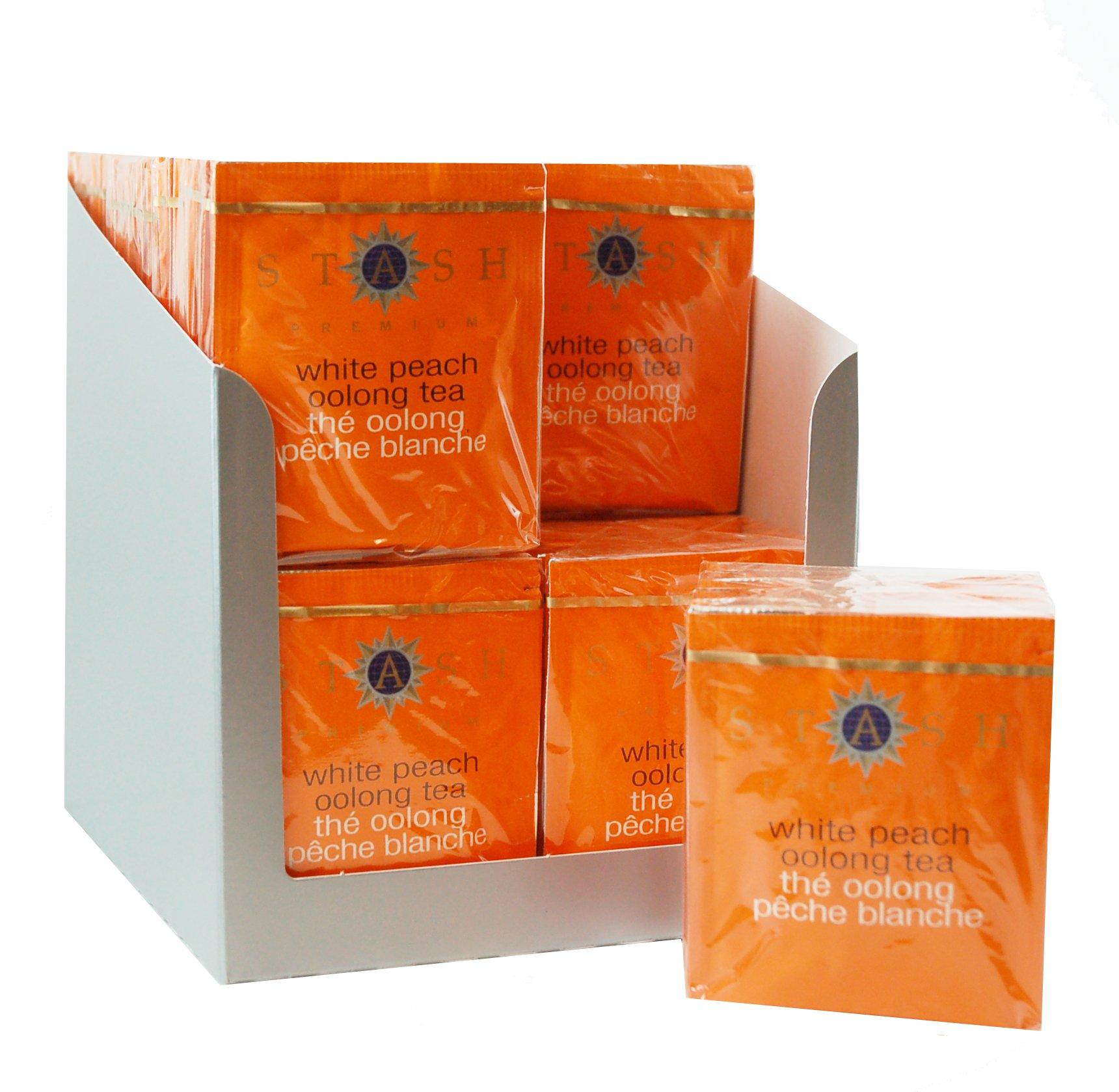 Stash Tea White Peach Oolong Tea 10 Count Tea Bags in Foil (Pack of 12) (packaging may vary) Individual Oolong Black Tea Bags, Use in Teapots Mugs or Cups, Brew Hot Tea or Iced Tea by Stash Tea