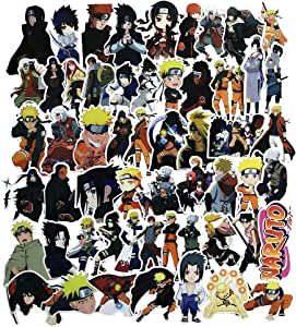 Anime Themed Naruto 63 Piece Sticker Decal Set for Kids Adults - Laptop Motorcycle Skateboard Decals