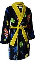 Lego Movie Boys Black Fleece Bathrobe Robe