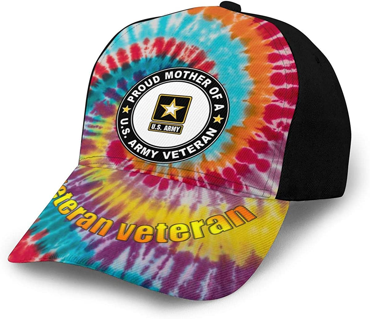 U.S Army Veteran Proud Mother Decal Classic Adult Hop Printing Bend Along Baseball Hat Snapback Unisex Hats Adjustable
