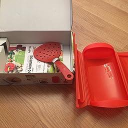 Compra Lekue - Estuche de vapor, Con bandeja y kit 10 en Español, Rojo, 1 - 2 personas (650 ml) en Amazon.es