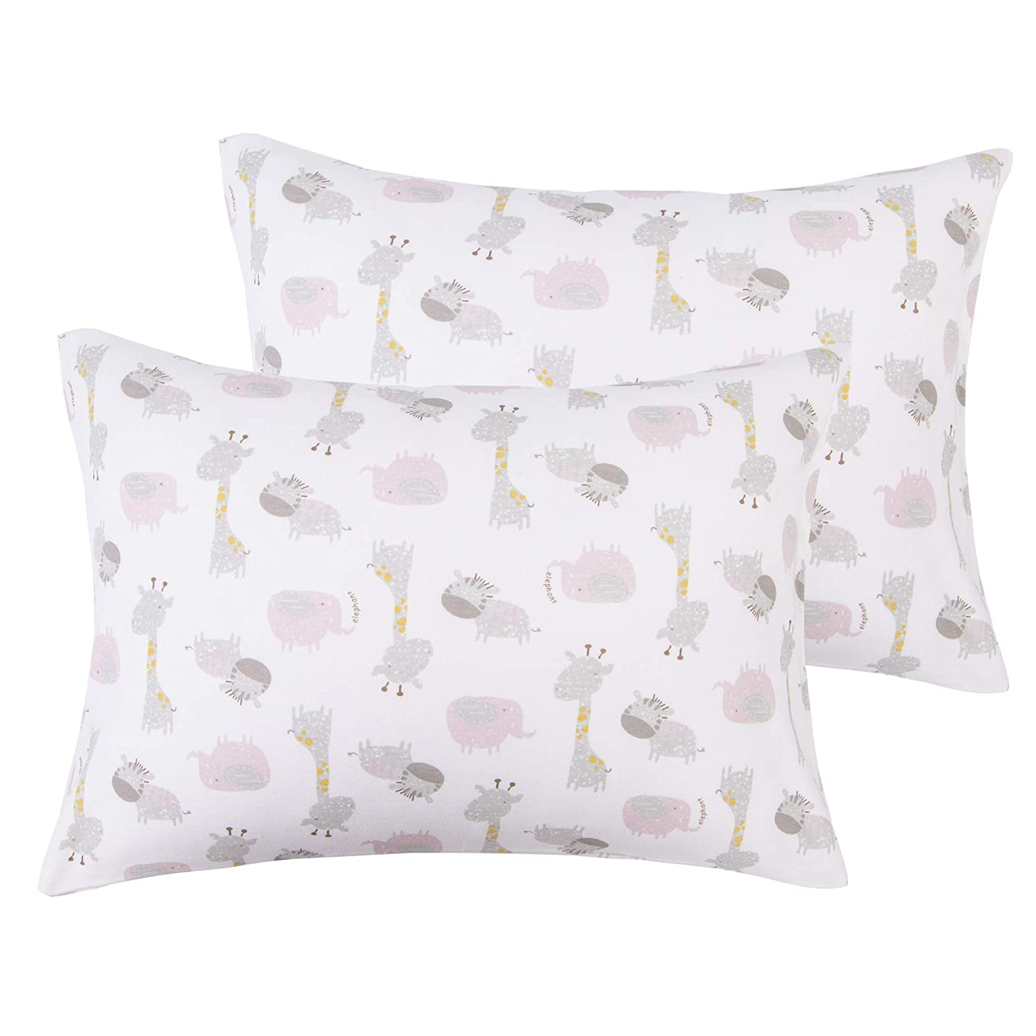 NTBAY 100% Cotton Toddler Pillowcases Set of 2, Soft and Breathable, Envelope Design, 13x 18, Rabbits Pattern 13x 18