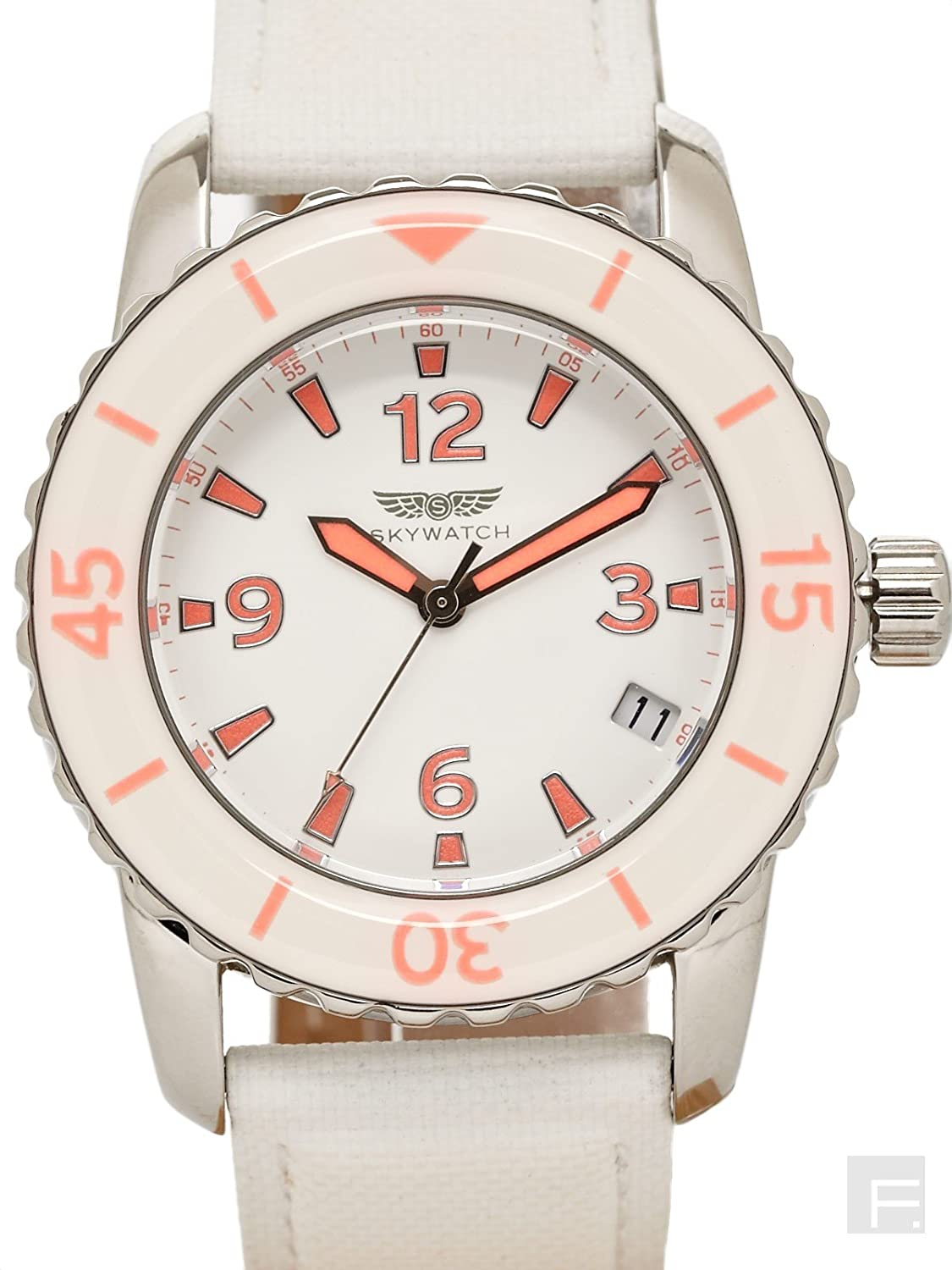 SkyWatch Analog White Dial Women's Watch - AM1003