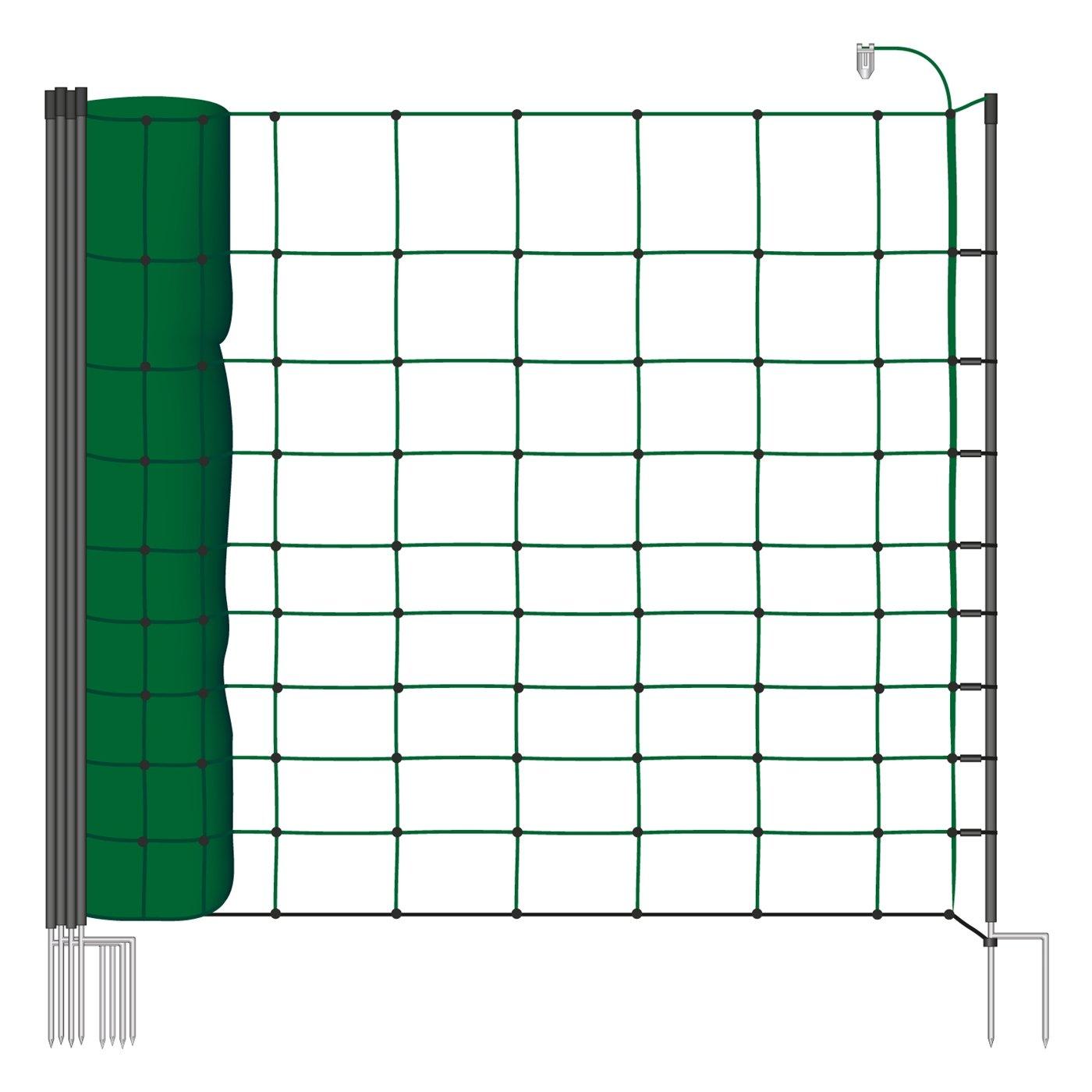 Filet mouton 50m H : 106cm vert sapin VOSS.farming 14 piquets double pointe clôture électrique