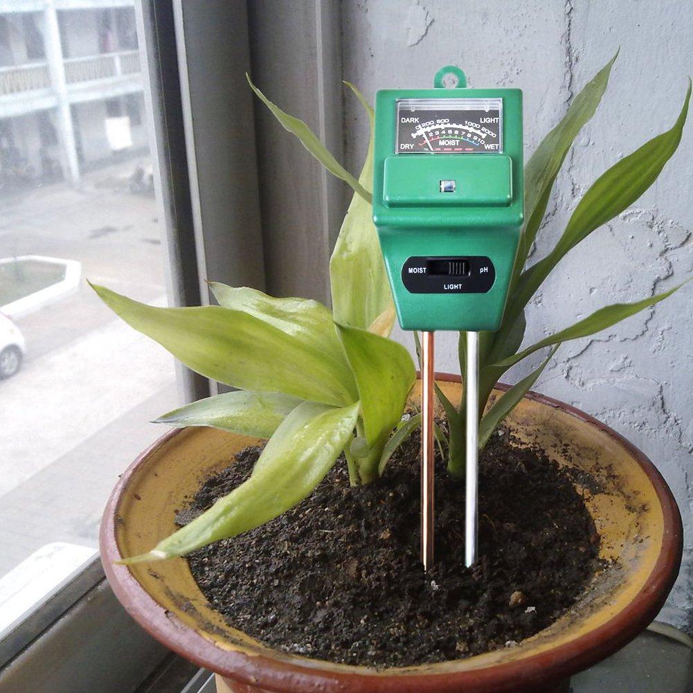 Bauernhof pflanzenbodengrund Tester Kit kein Akku erforderlich Rasen Pflanzen Pflege hinmay Boden Feuchtigkeit Meter,-in Licht und pH-S/äure Tester f/ür Garten
