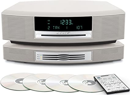 Titanium Silver Bose Wave Music System III CD Radio and Bose Wave Multi-CD Changer Compatible with Alexa and Bluetooth Adapter