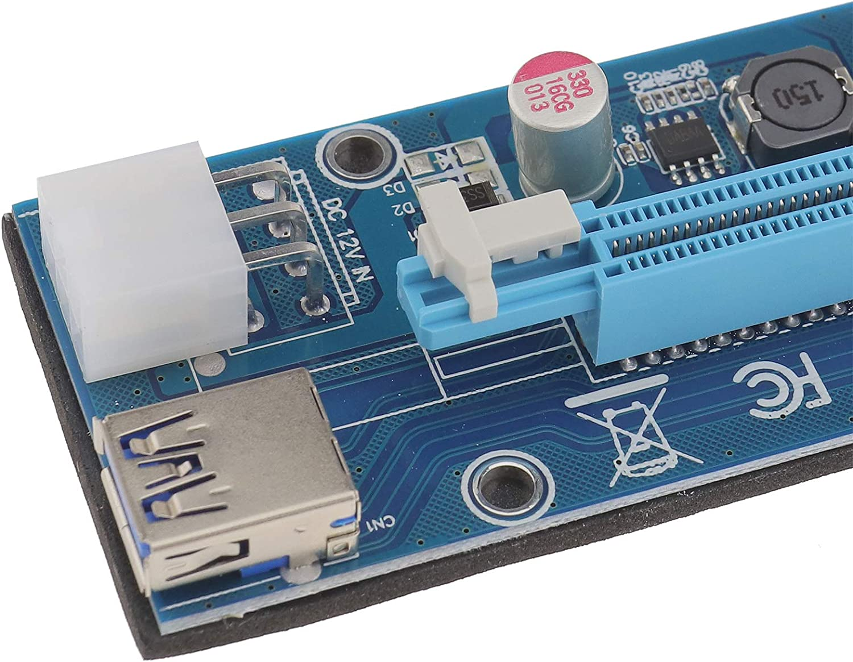 2x USB 3.0 Pci PCI-E Express 1x bis 16x Extender Adapter Stromkabel 6PIN