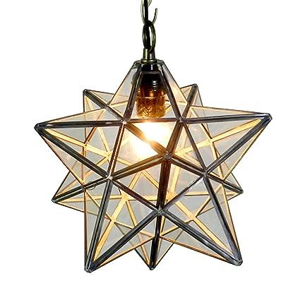 Homestia moravian star ceiling light industrial style pendant lamp homestia moravian star ceiling light industrial style pendant lamp 110v e26 transparent glass aloadofball Images