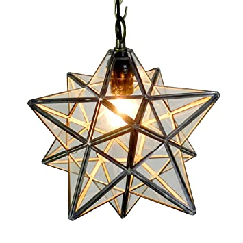Homestia moravian star ceiling light industrial style pendant lamp homestia moravian star ceiling light industrial style pendant lamp 110v e26 transparent glass mozeypictures Image collections