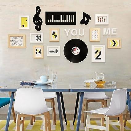 ... Frame Wall 10 Box Modern Minimalist Dynamic Music Creative Living Room  Combination Decorative Photo Frames (Color : White Original): Kitchen U0026  Dining