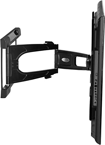 Atdec TH-3060-UFL Ultra Slim Articulated Low Profile Wall Mount for Displays up to 77-Pound, Black