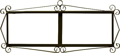 Image of ART ESCUDELLERS Soporte Marco metálico en Color Negro para Azulejos Letras/numeros/simbolos para el diseños Mosaico Mediano y Flor Mediano (Soporte para 6 Piezas) 37,5 cm x 16,5 cm