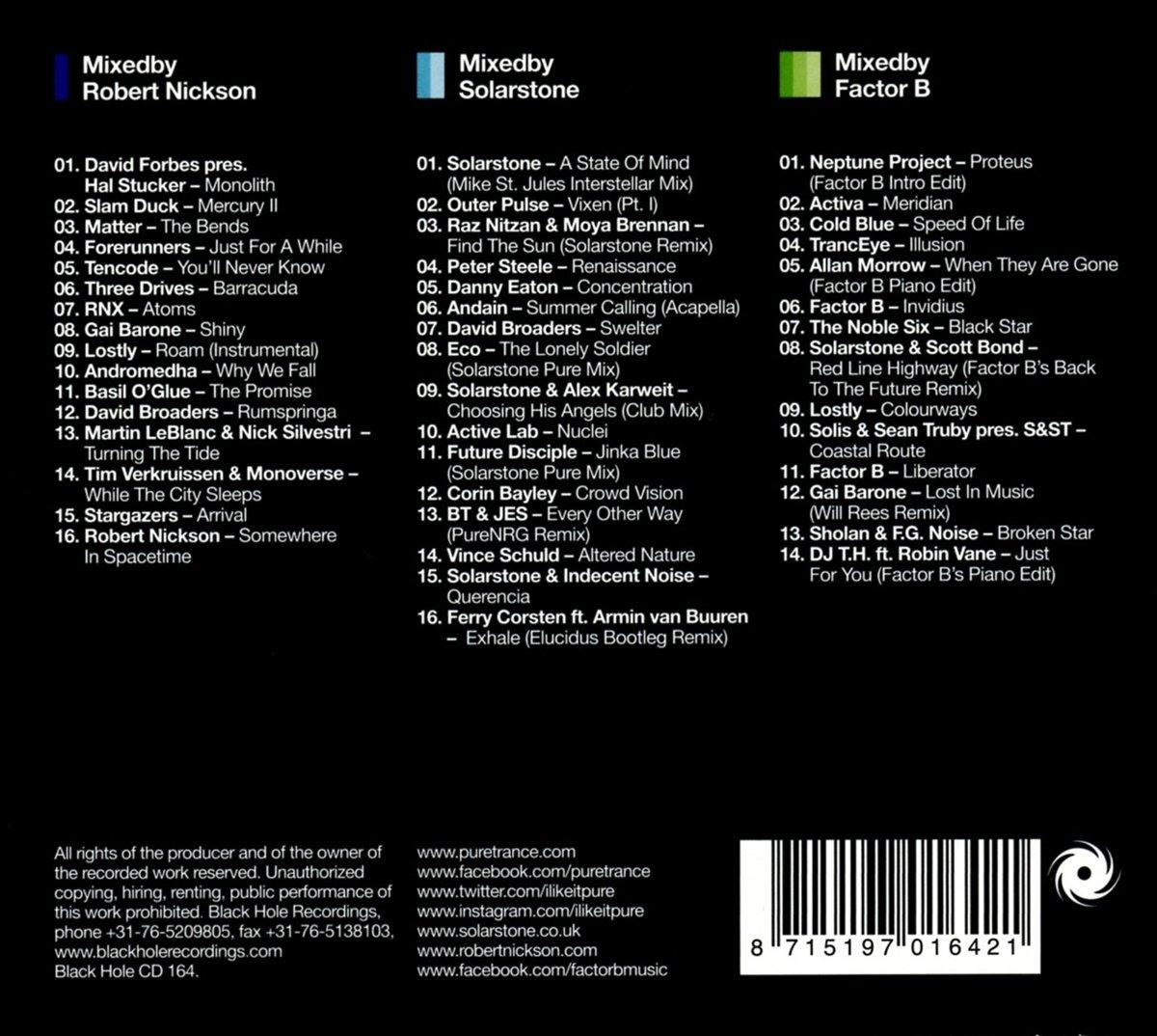 Pure Trance Vol.6: Robert Nickson, Solarstone & Factor B: Amazon.es: Música