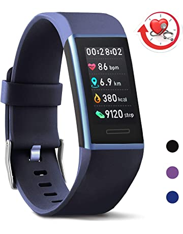 bad75d9c5 MorePro X-Core Fitness Tracker HR, Waterproof Color Screen Activity Tracker  with Heart Rate