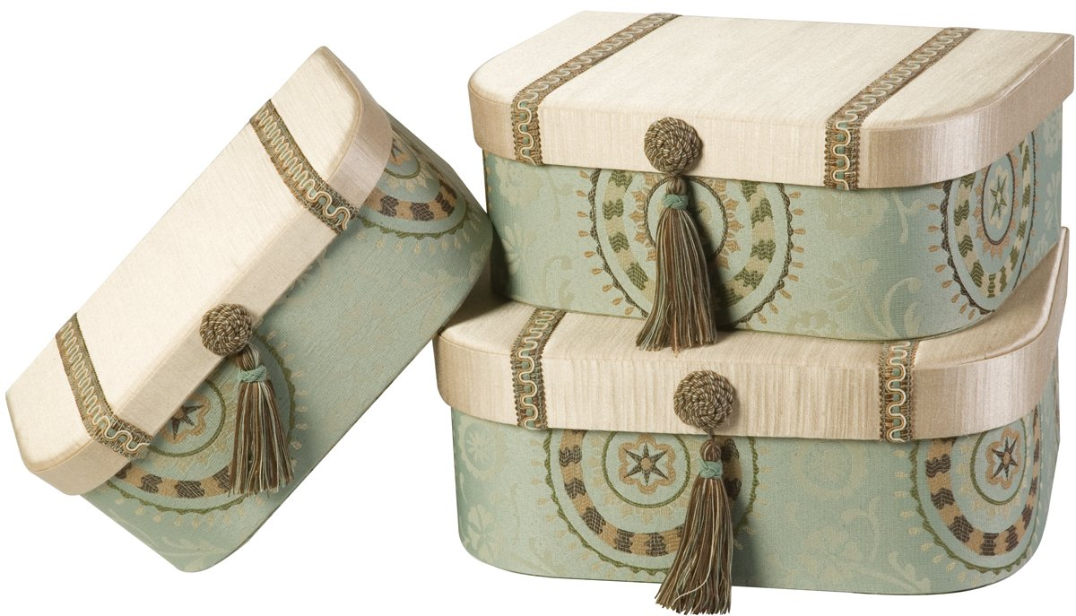 Jennifer Taylor Fortune 3-Piece Set Gift Box, Largest 16-1/2 by 11-3/4 by 6-3/4-Inch
