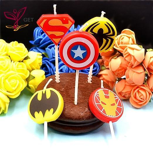 Vela de cumpleaños - de los Vengadores: Amazon.es: Hogar